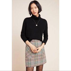 NWOT Anthropologie Maeve Multi-Color Plaid Skirt